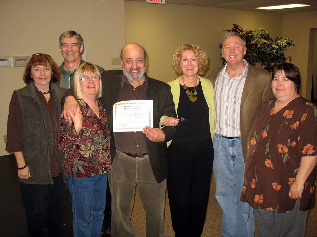 Marvyn receiving honorary membership in SPNO 2007